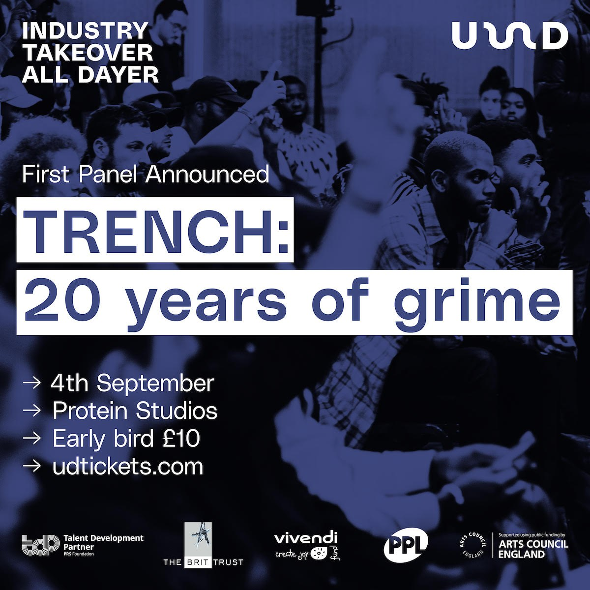 Celebrate 20 Years Of Grime With TRENCH x UD At The Next 'Industry Takeover All Dayer' In September!